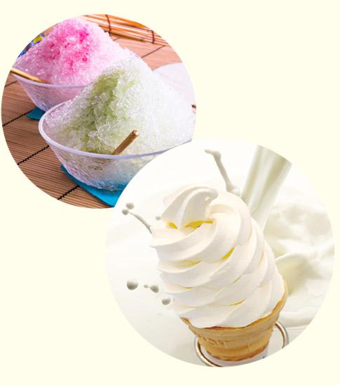 かき氷・ソフトクリーム