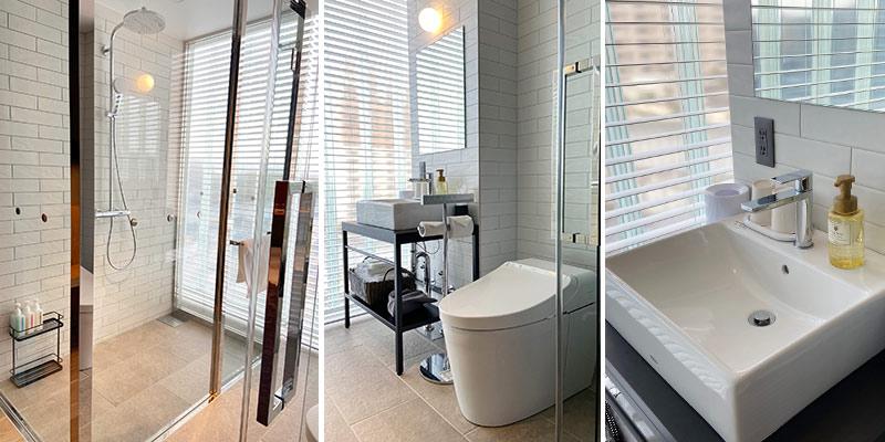 ガラスのシャワールーム