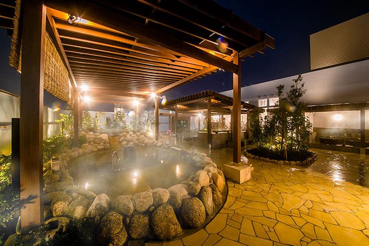 露天風呂の温泉